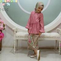 Jual Sherine Pashmina Batik Set 4in1 (baju, bross, rok lilit, jilbab) Murah