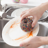 Jual Spon spons sponge cuci piring dapur serat polyester bentuk bola HKN142 Murah