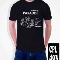 Kaos COLDPLAY BAND Paradise . Tag Kaos Gildan Softstyle