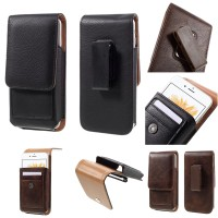 harga Vertical Leather Belt Clip Holster Pouch With Rotary 5.5in (16x8,5cm) Tokopedia.com