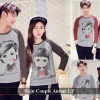 Lengan panjang couple trendy | baju kapel kompak | Anime