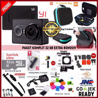 Jual Paket Komplit Xiaomi Yi Camera Black International Version Murah