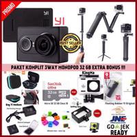 Jual Paket 3 Way Komplit Xiaomi Yi Camera Black International Murah
