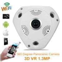 IP Camera CCTV Wifi Fish Eye 360 Degree VR Cam 3D Panoramic