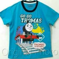 Kaos Anak Size 7-10 Thomas Go Go Biru  kaos Anak Karakter Laki-laki