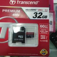 Jual MEMORY TRANSCEND MICRO SD 32GB CLASS 10 60MB/S Murah