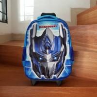 Tas Troli Transformer Optimus Prime biru