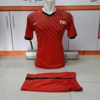 Jual Seragam Sepakbola-Kaos Team Futsal-Jersey Bola-Nike T90 Merah Murah