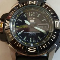 Jual Seiko 5 with map meter black Murah