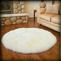 Jual karpet bulu korea bentul bulat diameter 100cm Murah