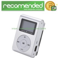 Pod MP3 Player TF card with Small Clip Silver and LCD Screen - Silver