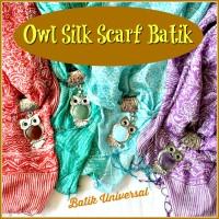 Jual OSN Batik Scarf Silk Sutra Owl pendant Batu Akik Red Agate Opalite. Murah