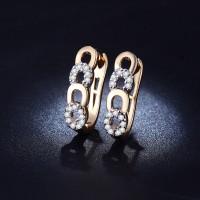 Anting Lapis Emas 18k Berlian Kecil Imitasi Wanita - BE022