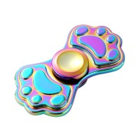 Jual Multicolor Rainbow Fidget Spinner Toy Colorful: Cat Paw Shape Murah