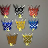 Jual emblem transformer / transformers decepticon Diskon Murah