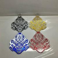 Jual emblem transformer / transformers autobot megatron face Berkualitas Murah