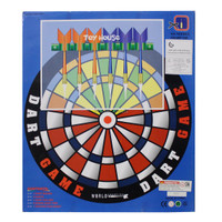 Jual NEW DART GAME AMUSIVE 13 X 13 SET WITH 6 DARTS AND BOARD DART BOARD Murah