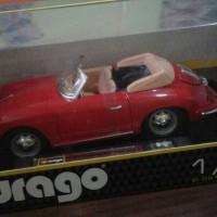 diecast miniatur mobil bburago porsche 356B carbiolet