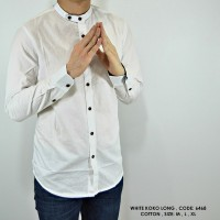Jual Baju Kemeja Koko Modern Panjang Putih hot item Murah