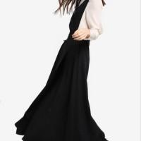 Jual Pakaian Wanita: Zalia Pinafore Dress Long Dress Overall Dress Casual  Murah