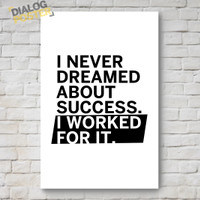 Jual Hiasan Dinding Poster Kayu - I Never Dreamed About Success 20x30 Murah