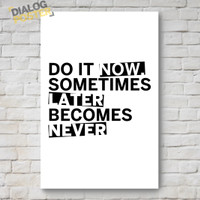 Jual Hiasan Dinding Poster Kayu - Do It Now 20x30 Murah