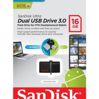 Jual SanDisk Dual USB Drive 3.0 16GB | Flashdisk OTG 16 GB Android PC Ult Murah
