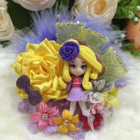 Jual Hairbow /Pita Jepit Clay Doll 03 Murah