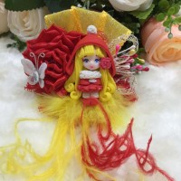 Jual Hairbow / Pita Jepit Clay Doll 02 Murah