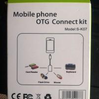 Jual OTG Cable Connect Kit buat Colok Ke HP Android - Hitam Murah