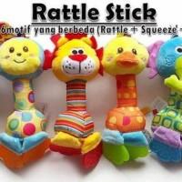 Jual Happy Monkey Rattle Stick Teether / Mainan Bayi Murah