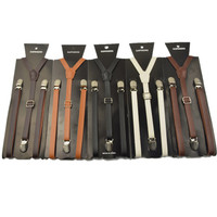 Jual suspender bretel kulit leather ready stok Murah