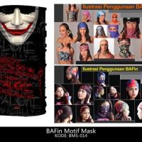 Jual Masker Buff Bandana Joker Topeng Wajah Karakter Kain Multifungsi Keren Murah
