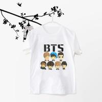 Jual Tumblr Tee / T-Shirt / Kaos Wanita Lengan Pendek BTS CHIBI Murah