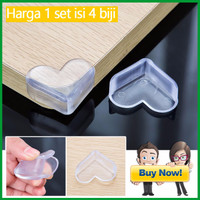 Jual Terlaris Pengaman/Pelindung Sudut Meja/Safety Corner TRANSPARAN (1 Set Murah