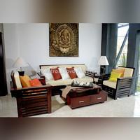 Kursi & Meja Tamu Kayu Jati Sofa Minimalis Furniture Asli Jepara