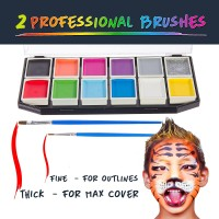 Jual Face Painting and Body Paint Kit Halloween Party 12 Set Cat Muka Anak Murah