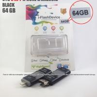 Jual OTG Iphone 3 in 1 64GB Black bisa juga untuk Android dan PC or Laptop Murah