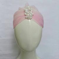 Jual Beauty Turban with pearl (tile) Murah