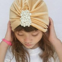 Jual Beauty Turban Velvet with pearl aksesoris jilbab/ hijab Murah
