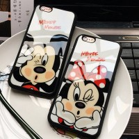 iPhone 5 5s SE Mickey Minnie Mirror Disney Couple Soft Case Casing HP