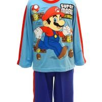 Baju Tidur Anak / Piyama Pja 010617 Mario Bros Blue