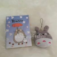 Jual 1 Set Gantungan Handphone Hp Boneka Totoro Abu + notes besar Murah