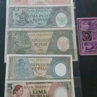 Jual UANG KUNO INDONESIA 5-100 RUPIAH 1964 UNC Murah