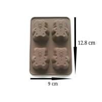 Jual Cetakan Silikon Beruang Kecil Mini Bear Puding Jelly Coklat Sabun Clay Murah
