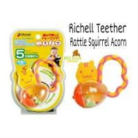 Jual Richell Teether / Gigitan Baby Rattle Squirrel Acorn Murah