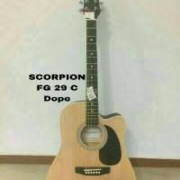 Jual Gitar Akustik Scorpion FG-029C natural (import) Murah