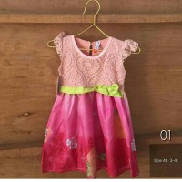 Jual Brokat Dress Anak 4T Murah