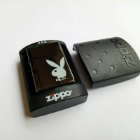 Jual Korek Zippo Grade Ori Black Playboy Full Box Murah
