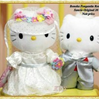 Jual boneka hello kitty wedding couple mc donalds Murah